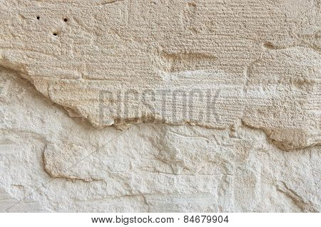 Rock limestone treated with a special tool background