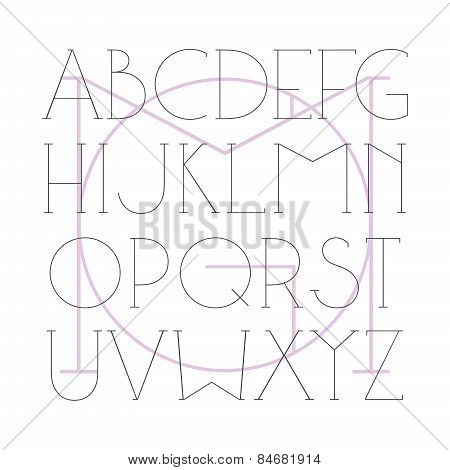 Serif Font Hair Line In Classic Style