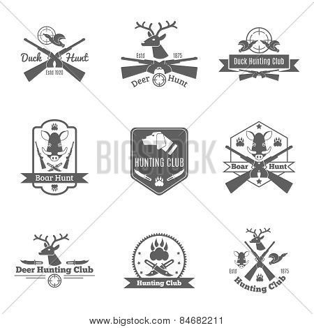 Hunting Label Set