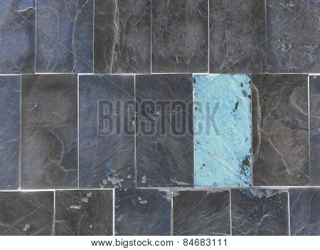 grey and blue brick background