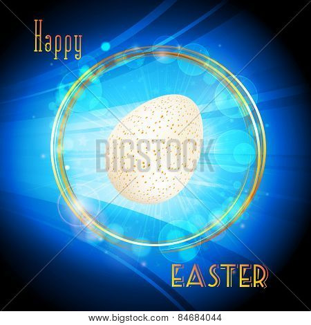 Easter Glowing Circle Border And Egg Background