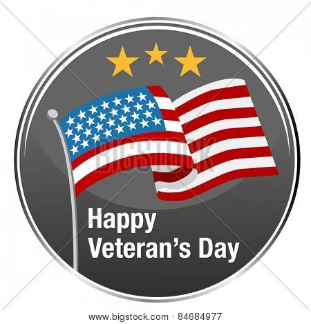 An image of Happy Veteran's Day badge.