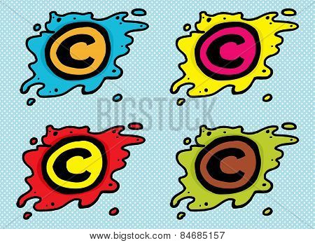 Cartoon Blob Copyright Icons