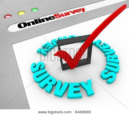 Encuesta en línea - pantalla de la Web