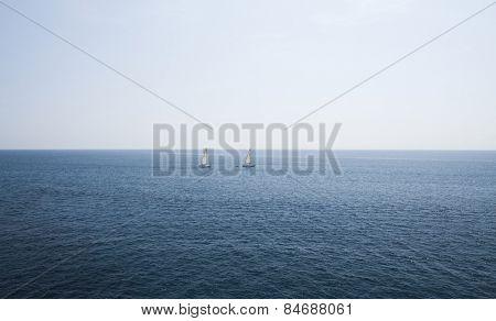 Sailing boats on the sea