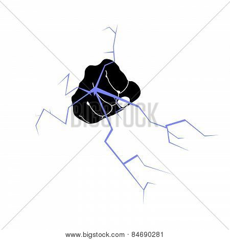 Fist And Crack Vector