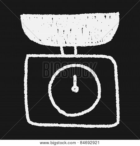 Scale Weight Doodle Drawing