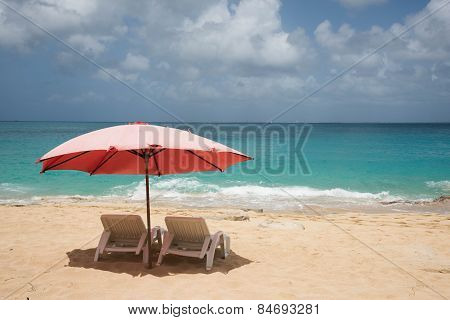 Beach Loungers At Baie Rouge 2