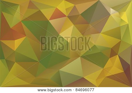 Vector Illustration of Autumn Low Poly Background