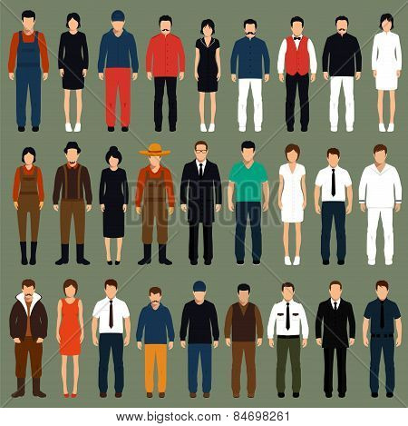 vector cartoon people,
