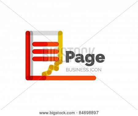 Line minimal design logo, business icon page