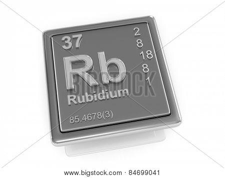 Rubidium. Chemical element. 3d