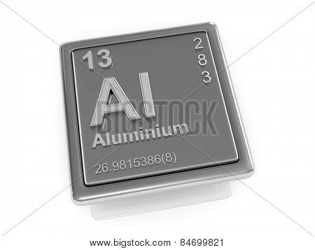 Aluminium. Chemical element. 3d