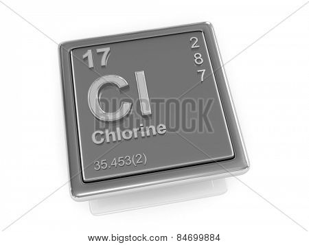 Chlorine. Chemical element. 3d
