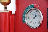 picture of electricity meter  - Meters or gauge in crane cabin for measure Maximun load - JPG