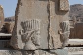 foto of xerxes  - Pesepolis world heritage archeological site Persia Iran - JPG