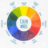 stock photo of color wheel  - Handmade color wheel - JPG