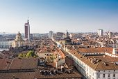 foto of turin  - A view of downtown Turin from above - JPG
