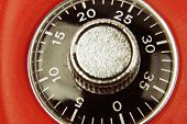 foto of combination lock  - Combination lock numbers on dial - JPG