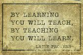 image of proverb  - By learning you will teach by teaching you will learn  - JPG