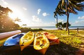 picture of watersports  - kayak on the beach - JPG