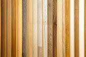 stock photo of laminate  - Laminate floor color wood plank board selection - JPG