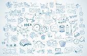 picture of shapes  - Business doodles Sketch set  - JPG