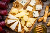 image of brie cheese  - Cheese plate - JPG