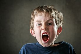 pic of angry  - Young Angry boy yelling - JPG