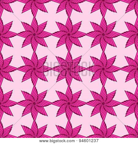 Geometrical Ornamental Star, Symbol Of The Sun. Islan Star. Seamless Pattern. Colored Vector Illustr