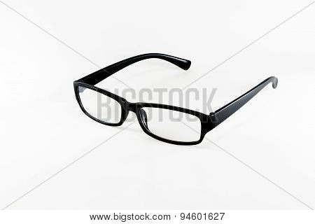 Black Eye Glasses on white
