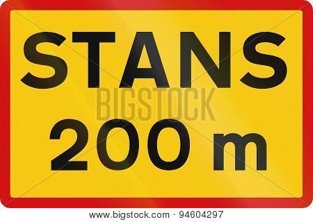 Stop 200 Meters Ahead In Iceland