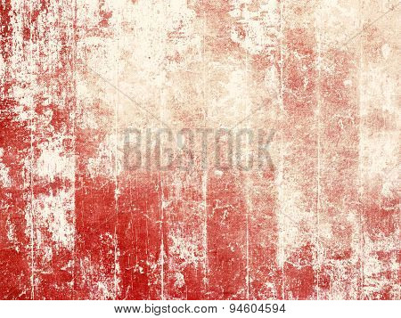 Grunge wood background texture - old weathered red colored floorboards