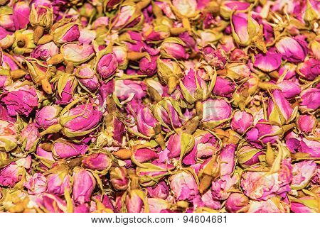 Dried Rosebuds On Sale In Bazaar Of Istanbul