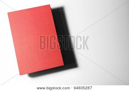 Textbook on white background