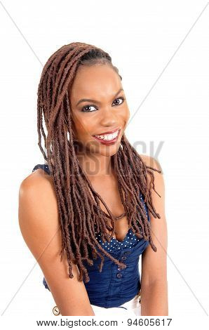 African American Lady With Big Smile.