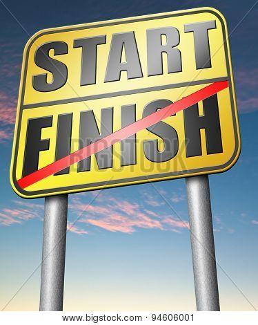 start finish
