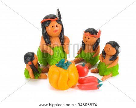 Indian Family Having Dinner