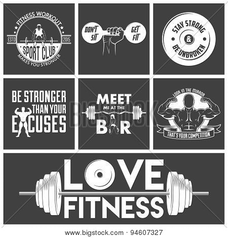 Fitness Icons Vector Set.