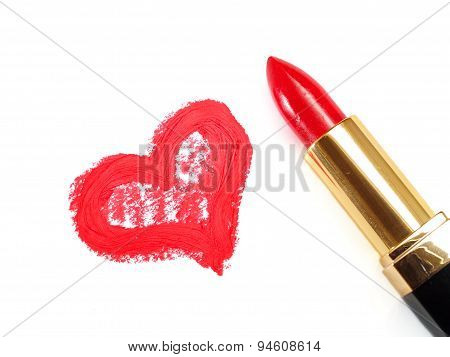 Lipstick And Heart