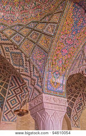 Nasir Al-Mulk Mosque ceiling detail