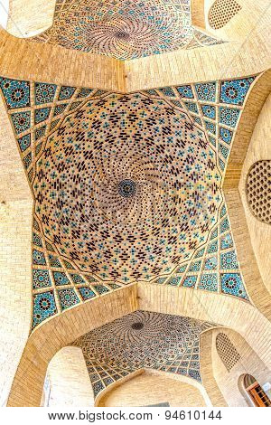 Nasir Al-Mulk Mosque ceiling dome