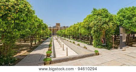 Shiraz Citadel garden panorama
