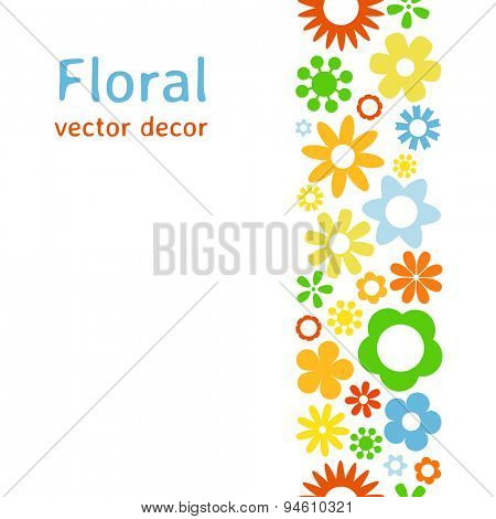 Various flower frame background with copy space