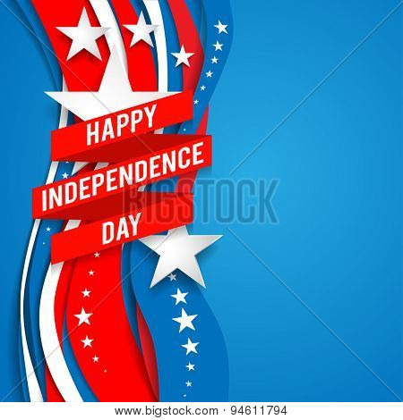 Patriotic background with stars for advertising, leaflet, cards, invitation and so on.
