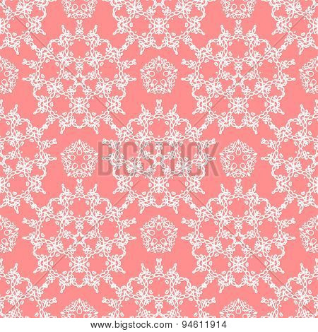 Vintage ornamental seamless pattern. Calligraphy style.