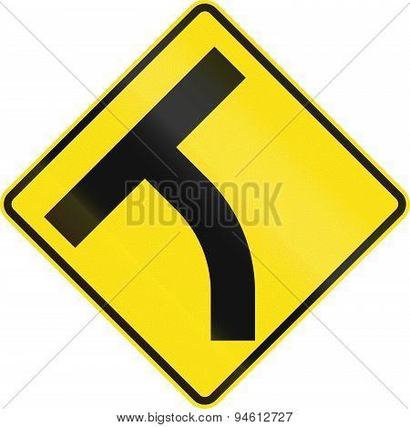 Intersection Ahead In Australia