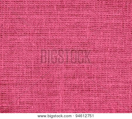 Dark pink burlap texture background