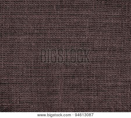 Dark puce burlap texture background
