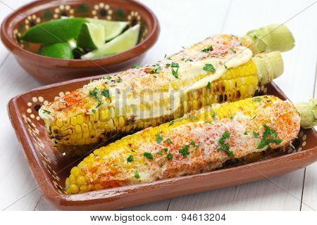 mexican grilled corn, elote